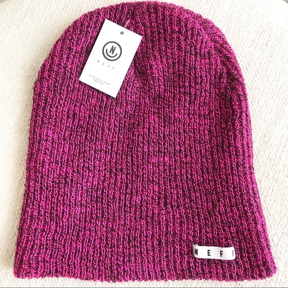 5cdfa158687105 Neff Accessories | Daily Heather Magenta Black Beanie | Poshmark